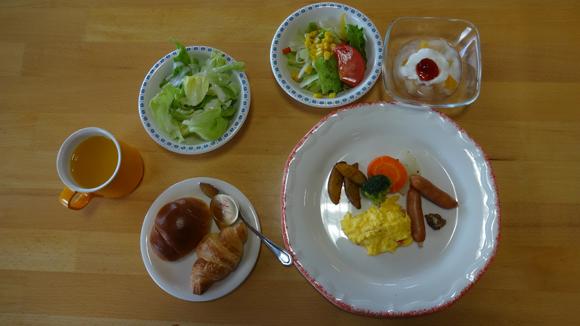 9月13日の朝食(洋食)