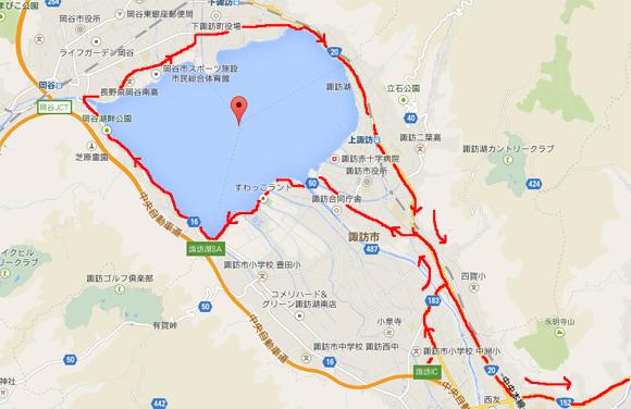 諏訪湖周辺地図