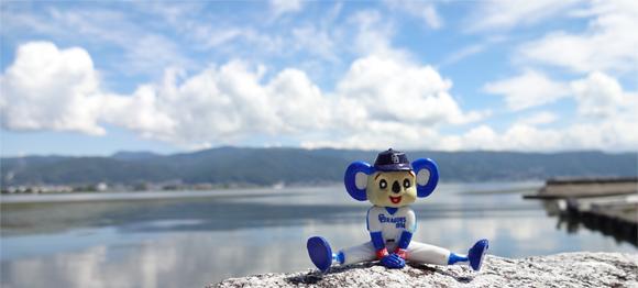 長野県・諏訪湖湖畔から見る八ヶ岳連峰