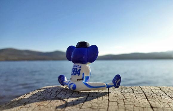 ドアラも富士山にうっとり
