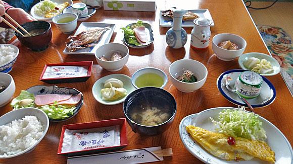 温泉民宿旅館 相模屋の朝食