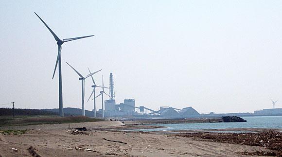 庄内砂丘の風力発電