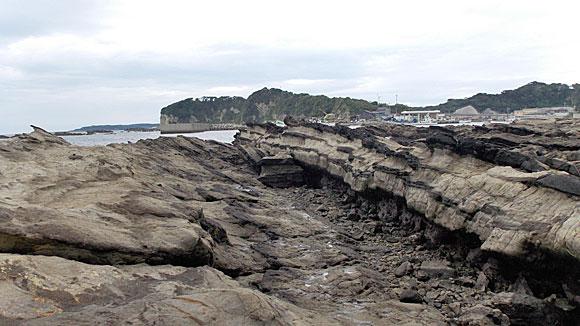 岩場の断層
