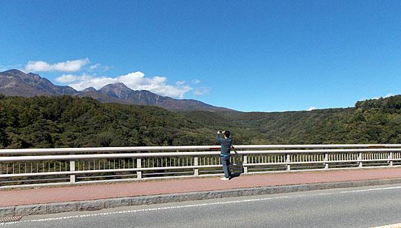 八ヶ岳高原大橋から見る八ヶ岳連峰