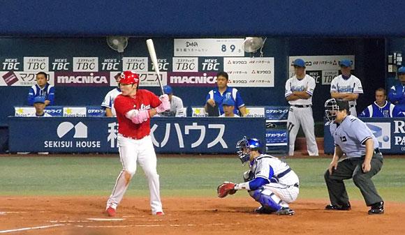 広島東洋カープ・1番打者の丸選手