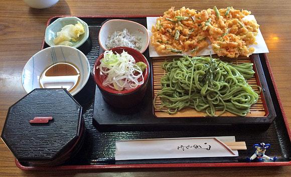 静岡県への日帰り旅行探検「お食事処 羽衣・茶そば定食」