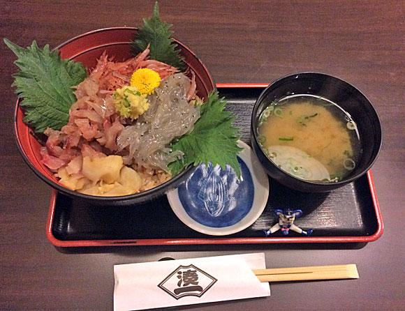 静岡県への日帰り旅行探検「さかなや 千本一・三色丼」