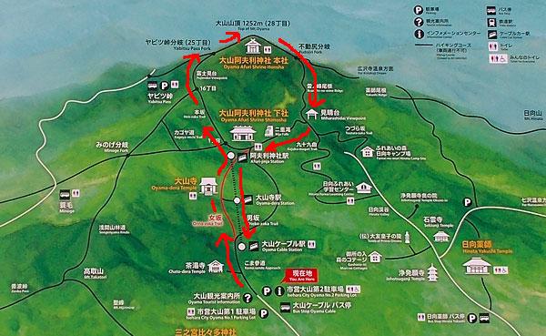 神奈川県伊勢原市・大山登山「登山コース」