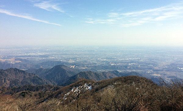 神奈川県伊勢原市・大山登山「大山山頂からの風景」