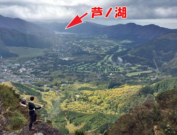 金時山登山「金太郎になって箱根町を臨む」