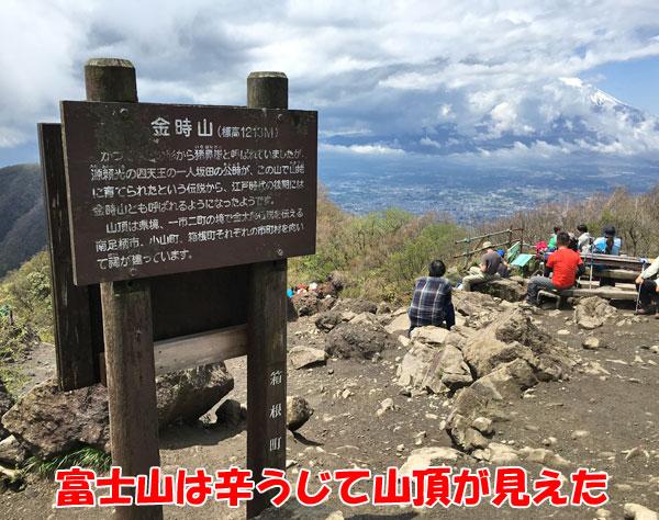 金時山登山「富士山」