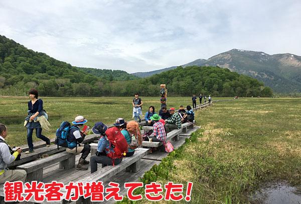 観光客が増えてきた!
