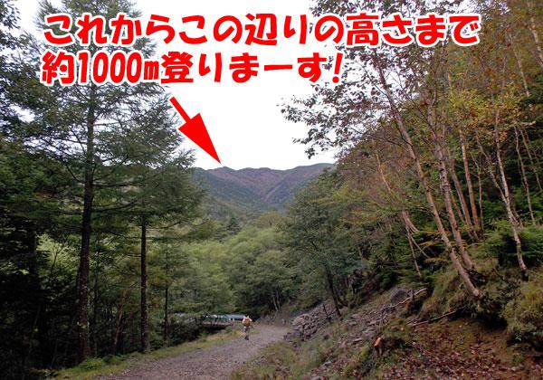 横岳登山・これから約1000m登りまーす!