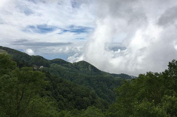 大河原峠駐車場から見た景色