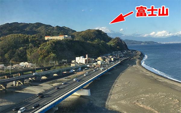 駿河健康ランドから見た富士山