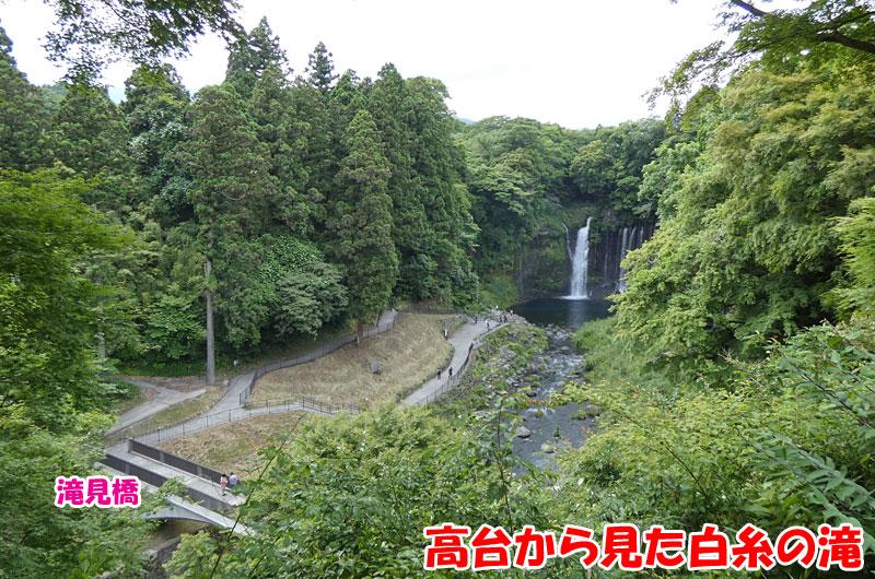 世界文化遺産の白糸の滝と滝見橋