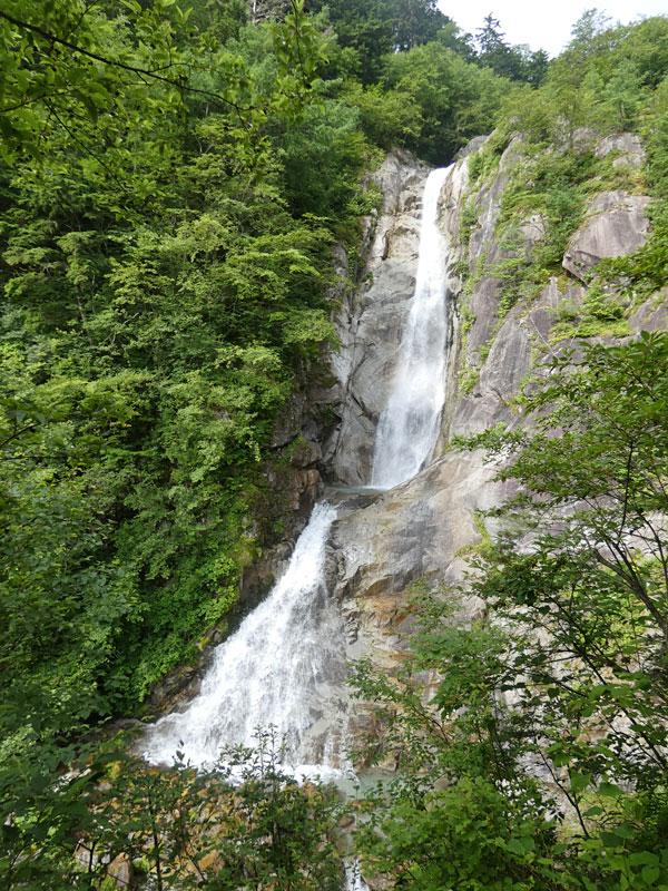 南アルプス・鳳凰三山:南精進ヶ滝