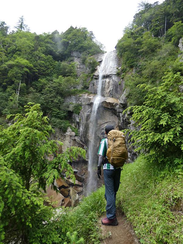 南アルプス・鳳凰三山:五色滝に到着