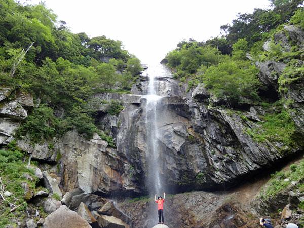 南アルプス・鳳凰三山:五色滝