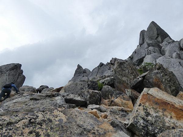 地蔵岳のオベリスクにチャレンジ