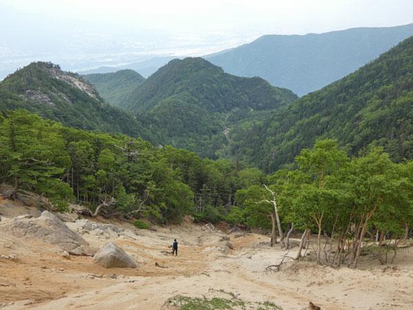 地蔵岳から鳳凰小屋まで下山