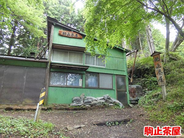 丹沢登山:駒止茶屋に到着