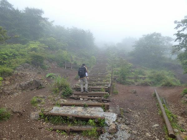 丹沢登山:堀山の家から花立山荘へ向かう
