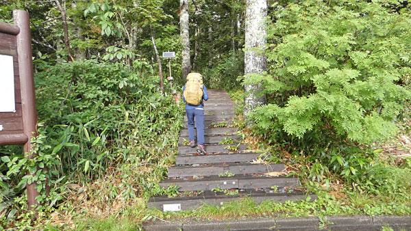 長蔵小屋へ向かって沼山峠を出発!