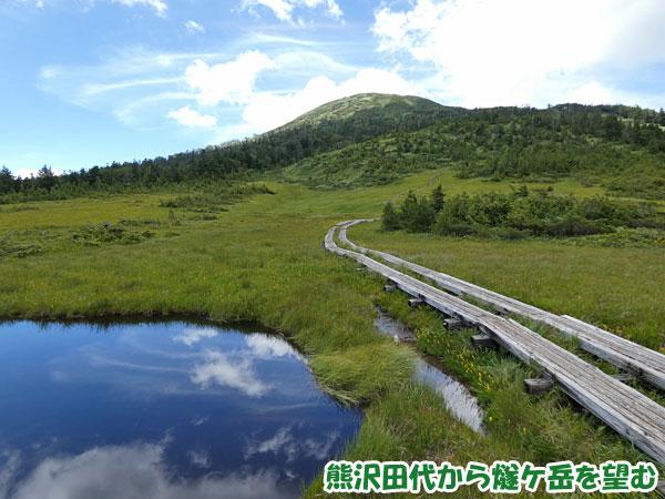 燧ケ岳登山・熊沢田代から燧ケ岳を望む