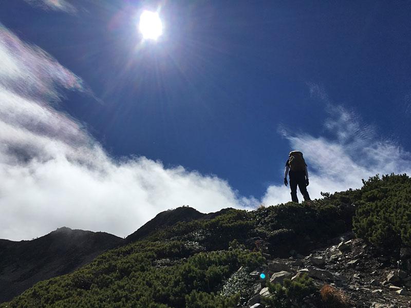 仙丈ケ岳山頂までもう少し