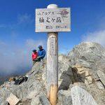日本百名山の仙丈ヶ岳に藪沢新道から日帰り登山に行ってきました。