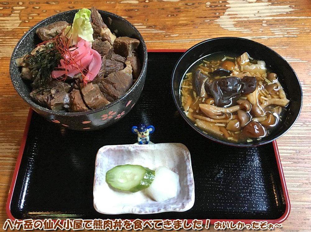 八ケ岳の仙人小屋で熊肉丼を食べてきました!おいしかったぞぉ~