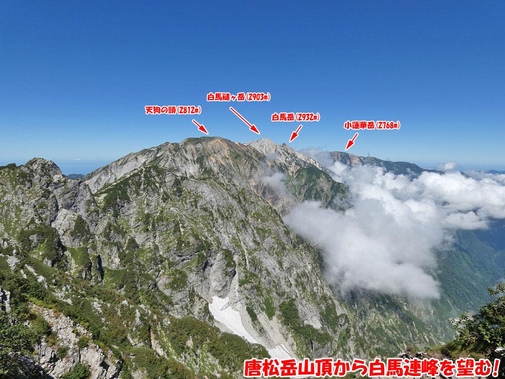 唐松岳山頂から白馬連峰を望む!