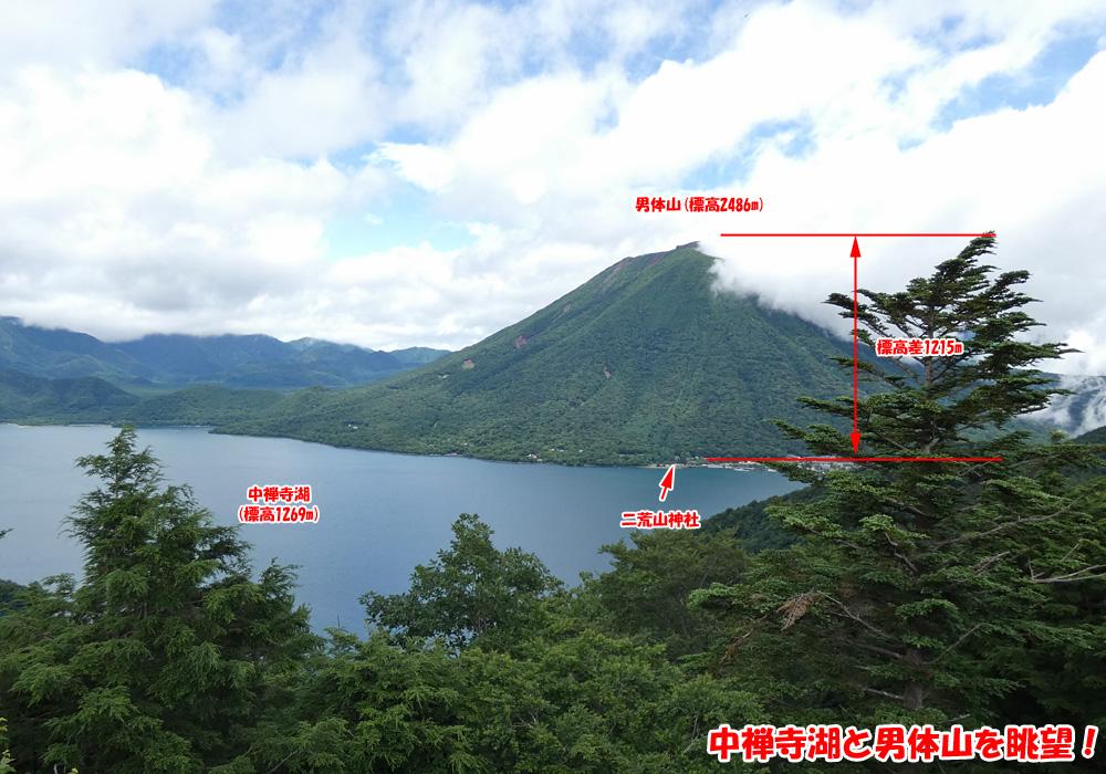 中禅寺湖と男体山を眺望!